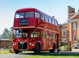 Red Routemaster Bus for hire in Basingstoke